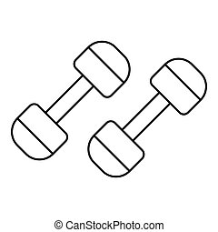 Dumbbells icon, outline style