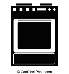 Gas stove icon, simple style - Gas stove icon. Simple...