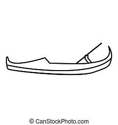 Gondola icon, outline style - Gondola icon. Outline...