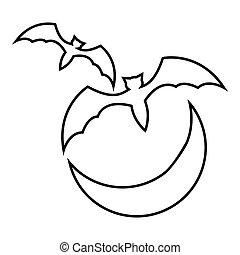 Sca archivi di illustrazioni 17 sca immagini clipart e - Contorno immagine di pipistrello ...