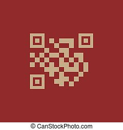 The QR code icon. Link and URL symbol. Flat Vector...
