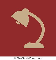 The table lamp icon. Reading-lamp and lighting,...