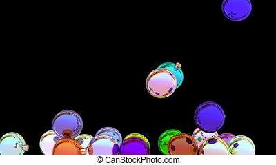 Colorful Christmas balls 3D animation