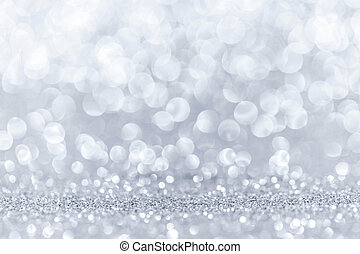 Bokeh lights background - Abstract background with silver...
