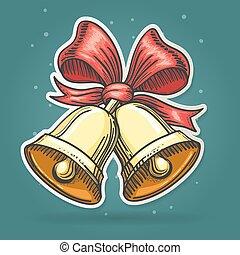 Paper Cut Jingle Bells Emblem - Paper cut Jingle Bells...