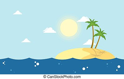 Cartoon islands landscape collection stock vector...