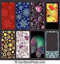 Set of colorful dust covers for mobile phone