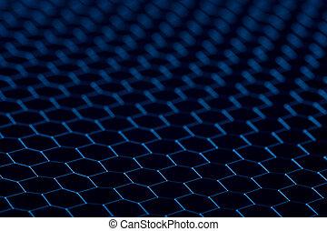 close up of seamless metallic grid. Selective focus