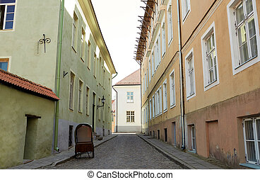 old city street with abandoned gig - travel, tourism and...