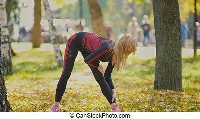 Sexy Attractive female blonde bikini-fitness model...