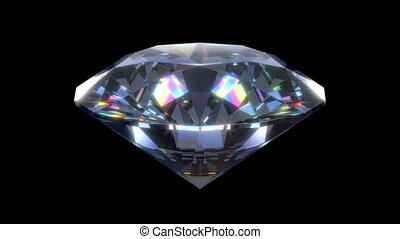 3D animation of the diamond - 3D animation of a precious...
