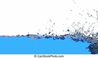 3D animation of the water - Water is filling the screen, 3D...
