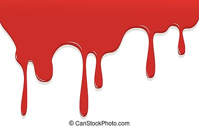 Paint Red color dripping, Color Droping Background vector...