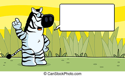Zebra Talking - A happy cartoon zebra talking and smiling.