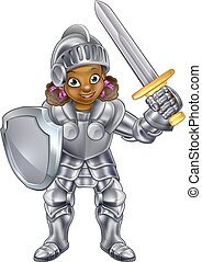 Cartoon Girl Knight
