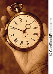 Old watch - Hand holding a vintage watch