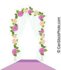 Wedding Arc Door with Flowers. Romantic Element - Wedding...