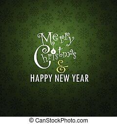 cartão, Natal,  Snowflakes, fundo, Saudação