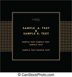 Vector Gold Modern Frame - Vector gold frame with sample...