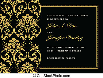 Vector Gold Iris Frame - Vector gold frame with sample text...