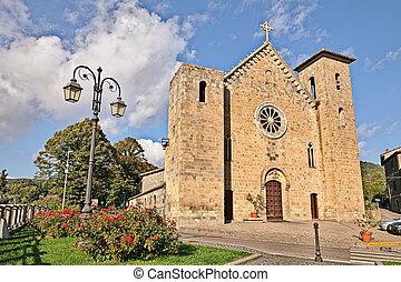 medieval church in Bolsena, Viterbo, Lazio, Italy - Bolsena,...