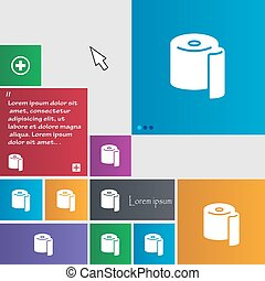 toilet paper icon sign. buttons. Modern interface website...