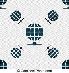Website Icon sign. Seamless pattern with geometric texture....