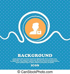 user is blocked icon sign. Blue and white abstract background flecked with space for text and your design. Vector