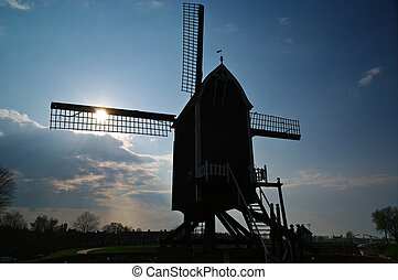Windmill with backlight
