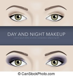 day and night eye makeup background - day and night eye...
