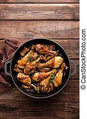 chicken, drumsticks