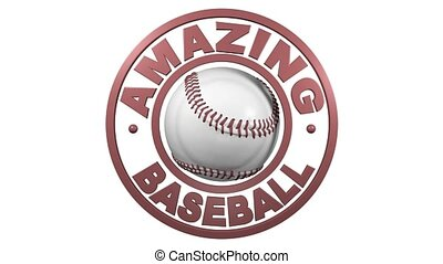 Baseball circular design with white background - Amazing...