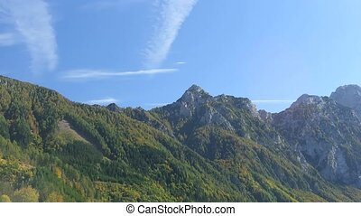 Time lapse Alps - Time lapse clouds over Alps in Bad...