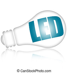 Led lightbulb - Led light bulb isolated on white background