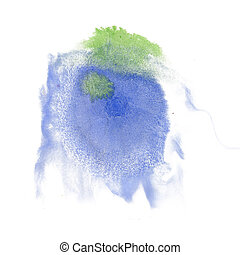 paint splash green blue color ink watercolor isolated stroke...