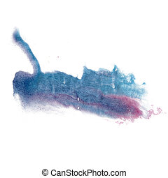 paint splash color ink watercolor blue pink isolated stroke...