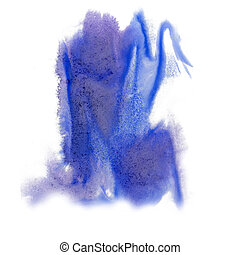 paint splash color blue ink blue red watercolor isolated...