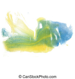 paint splash color ink watercolor isolate lime stroke green...