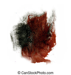 paint black Brown splash color ink watercolor isolated...