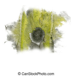 paint black yellow splash color ink watercolor isolated...