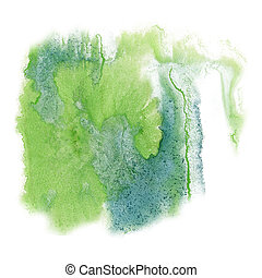 paint splash color ink watercolor lime blue isolated stroke...