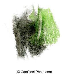 paint green black splash color ink watercolor isolated...
