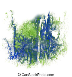 paint splash color ink watercolor isolate stroke blue green...