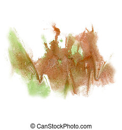 paint splash color ink brown watercolor isolated stroke...