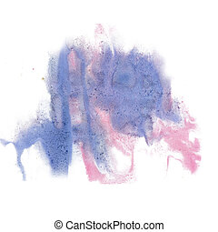 paint splash color ink blue pink watercolor isolated stroke...