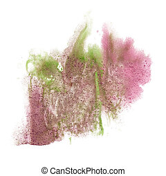paint splash color ink watercolor pink green isolated stroke...