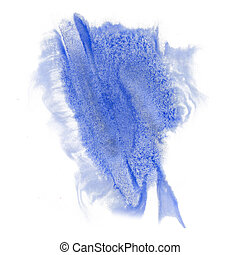 paint splash color ink watercolor blue isolated stroke...
