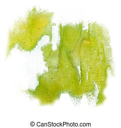 paint splash color ink watercolor isolate lime stroke...