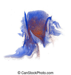 paint splash color ink blue red watercolor isolated stroke...