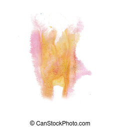 paint splash color ink orange pink watercolor isolated...